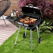 Charcoal Bbq Grill Free Standing Stainless Steel Portable Outdoor Heavy Duty