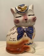 Shawnee Mark Supnickand039s Puss N Boots Cookie Jar 1993 Signed 66/150