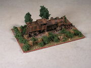 N Scale Rusted Out Logging Shay Locomotive.up On Ties Diorama. Version 4