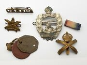 Ww1 Canadian Army Military Badge Lot 1st Division 3rd Machine Gun Corps Wwi Cap