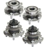 Set Of 4 Wheel Hubs Front And Rear Left-and-right 424500r010 435500r010 Lh Rh