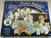 Precious Moments Paintable Plaster Nativity Set, 11 Figurines, By Colorbok 2013