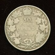 1912 Canada Silver Fifty Cents - No Reserve Sale