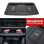 For 2015-2019 Toyota Highlander Console Qi Wireless Dual Phone Charger Plate Pad