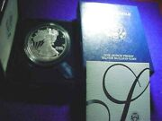 2005-w Proof Ultra Cameo Silver Eagle .999 Silver One Ounce Eagle With Ogp1075