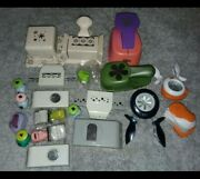 Scrapbook Paper Punch Lot Metal Paper Punches . Condition Is Used. Set Of...