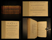 1772 William Shakespeare Plays Theatre Romeo And Juliet Hamlet Theobald 12v