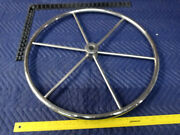 24andrdquo Boat Marine Stainless Steel Steering Wheel 1andrdquo Shaft 6 Large Spokes Yacht