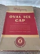 Vintage Walgreens Standard Ice Cap Hot / Cold Water / Ice Rubber Bottle In Box