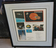 Rare Original Ulysses Flag Carried Aboard Space Shuttle Discovery Flight Nasa