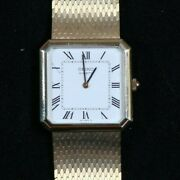 New Nos 14k Solid Gold Seiko Wrist Watch W/ Tags Original Box And Papers