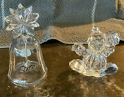 Princess House Clown And Bell Lead Crystal Figurines