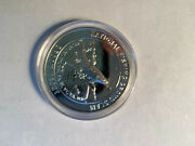 North American Fishing Club Brook Trout Proof Silver Plate Collector Coin
