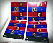 Four 2009 Through 2012 Pandd Us Mint Sealed Presidential 8 Coin 1 Dollar Sets