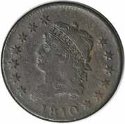 1810 Large Cent Vf Little Rough Uncertified