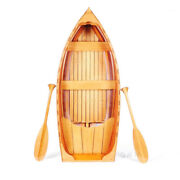 Display Cedar Strip Built Whitehall Dinghy Row Boat 5.1and039 Wooden Rowboat Decor