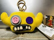 Fuggler Funny Ugly Monster Yellow Plush Toy/key Chain