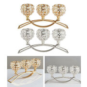 Crystal Candle Holder 3 Arms Candelabra Wedding Table Ornament