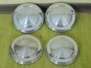 62 63 64 Mercury Dog Dish Hub Caps 10 1/2 Set Of 4 Merc Hubcaps 1962 1963 1964