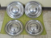 Vintage Lyon Accessory Hubcaps 15 Set Of 4 Wheel Covers 1950and039s 1960and039s Hot Rod