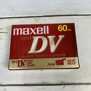 New And Sealed Single Maxell Mini Dv 60 Minute Video Cassette Tape