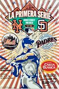 1 Of A Kind-1996 La Primera Serie-stadium Poster- Mets/padres Signed By 60