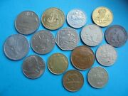World Coins 15 Different Group 1 As Shown.