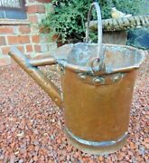 Antique 18/19th C French Dovetailed Copper Swing Handle Watering Can