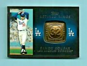 2012 Sandy Koufax Topps Commemorative Gold Retired Ring Card Sp 538/736