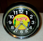 Hot Wheels 1968 Mattel Animated Clock Great Display For Collectors Rare