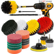 24pcs Drill Brush Attachment Set Power Scrubber Cleaning Combo Scrub Tub Cleaner