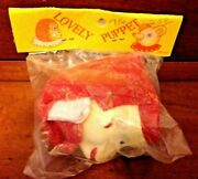 Antique Toy 1960s Paper Mache Hand Lovely Puppet Monkey Japan New In Bag Rare