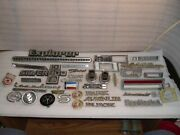 Large Lot Of Emblems For Wall Art Tool Box Deco Man Cave Broken Studs