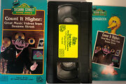 My Sesame Street-count It Highergreat Music Videosvhs 1988w Songbook-mint Con