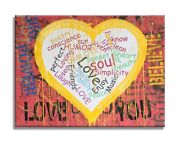 Heart - Girl Power Original Oil Acrylic Painting On Canvas By Dr8love