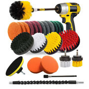 24/6x Drill Brush Attachment Set Power Scrubber Cleaning Combo Scrub Tub Cleaner