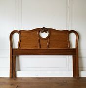 Custom Finish Vintage French Provincial Louis Style Queen Full Tiara Headboard