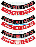 Chevy Air Cleaner Decals Ribbons Only-any Horsepower Rating Made To Order