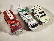 Hess Toy 2004 Suv Motorcycles Truck, 2005 Fire Engine, 2006 Helicopter