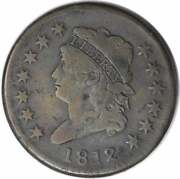 1812 Large Cent Vf Uncertified