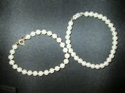 Pretty Costume Pearl Jewelry 2 Pearl Bracelets One Vintage, All Working Clasps