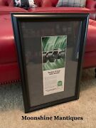1953 Quaker State Motor Oil Professionally Framed Print Ad - Gas And Oil Sign