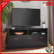 Tv Up Console Durable Wood Metal Hardware Accents 3 Closet Storage Cabinets