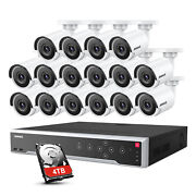 Annke 32ch 12mp Nvr 4k 8mp Poe Security Ip Camera System 24h Video Recorder Hdd