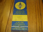 Electrolux Air Cooled Refridgerator Evansville Giant Feature Match Book Cover