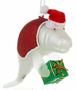Brighten The Season Manatee And Gift Ornament One Size Red