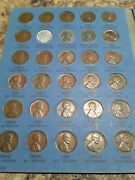 Lincoln Cent Collection 2 1941-1974 Pds Complet Vg -unc-bu Memorials.