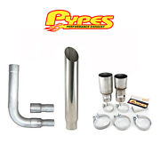 7 Miter Cut Stack Exhaust Chevy 2500 3500 Hd Diesel Stainless Steel Pypes Kit