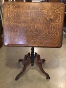 Antique Victorian Oak Drafting Table