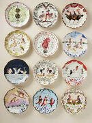 Inslee Fariss 12 Days Of Christmas Platescomplete Setnew In Box Sold Out